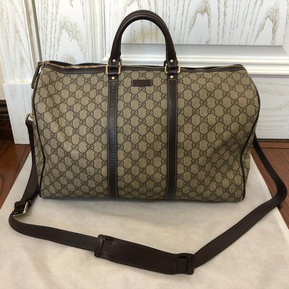 a010020be Gucci Bags | Gg Supreme Duffle Bag | Poshmark